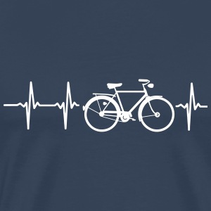 MY HEART BEATS FOR MY BIKE! T-Shirts - Men's Premium T-Shirt