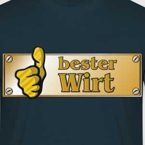 Messingschild bester Wirt - Männer T-Shirt