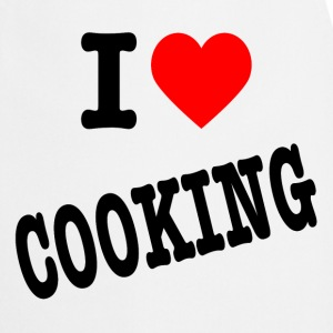 I love cooking kitchen apron white - Keukenschort