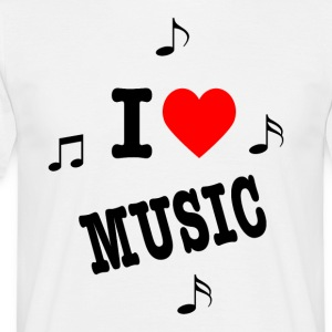 I love music white men's t-shirt - hou van muziek - Mannen T-shirt