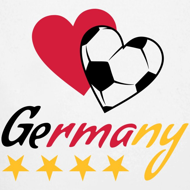 Baby Langarm-Body Fußball Herzen Germany