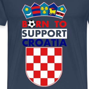 Support Croatia T-shirts - Herre premium T-shirt