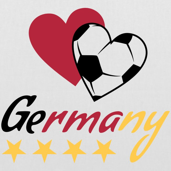 Stoffbeutel Fußball Herzen Germany