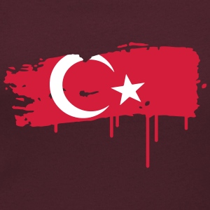 a Turkish flag as graffiti T-Shirts - Women's Scoop Neck T-Shirt