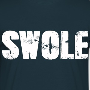 SWOLE WHITE - Men's T-Shirt