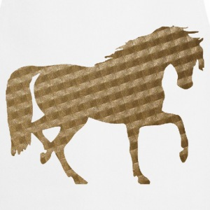 Horse in Brown Squares  Aprons - Cooking Apron