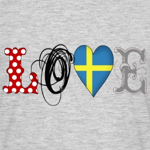 Love Sweden Black - Männer T-Shirt