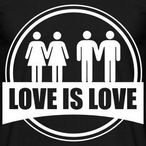LOVE IS LOVE GAY LESBIAN T-Shirts - Men's T-Shirt