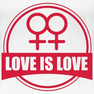 LOVE IS LOVE LESBIAN T-shirts - Premium-T-shirt dam