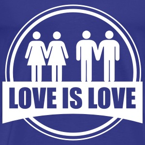 LOVE IS LOVE GAY LESBIAN T-shirts - Premium-T-shirt herr