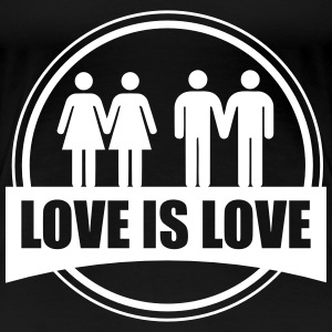 LOVE IS LOVE GAY LESBIAN T-shirts - Vrouwen Premium T-shirt