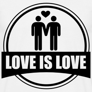 LOVE IS LOVE GAY T-Shirts - Men's T-Shirt