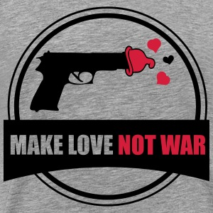 make love not war T-shirts - Herre premium T-shirt