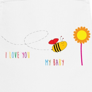 I Love My Baby / Bee / Flower / Bébé / Cute / Fun  Aprons - Cooking Apron
