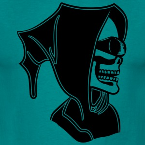 Death hooded zonnebril schedel T-shirts - Mannen T-shirt