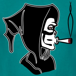 Death hooded Kiffen joint T-shirts - Mannen T-shirt