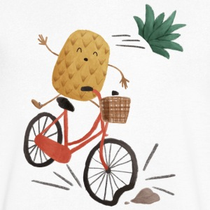 Pineapple Bike Obstacle Camisetas - Camiseta de pico hombre
