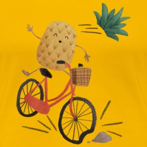 Pineapple Bike Obstacle T-Shirts - Women's Premium T-Shirt