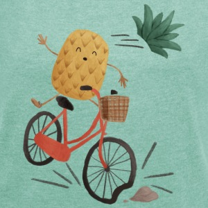 Pineapple Bike Obstacle T-Shirts - Women's T-shirt with rolled up sleeves
