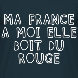 Tee Shirt France Humour Ma France boit du rouge - T-shirt Homme