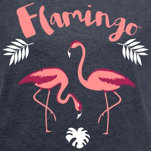 flamingo T-Shirts - Women's T-shirt with rolled up sleeves