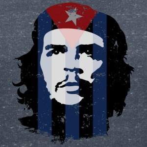 Che Guevara Women T-Shirt Cuba Flag - Women's V-Neck T-Shirt