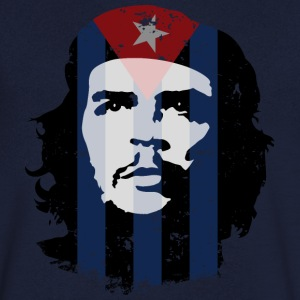 Che Guevara Men T-Shirt Cuba Flag - T-skjorte med V-utsnitt for menn