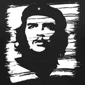 Che Guevara Women T-Shirt Painted - Women's V-Neck T-Shirt