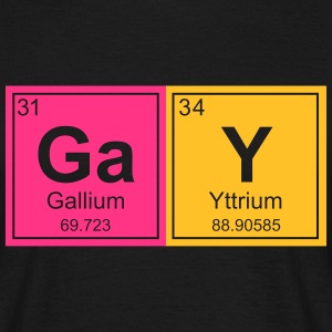 Geeky Gay Periodic Elements - Men's T-Shirt