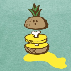 cute pineapple T-Shirts - Women's T-shirt with rolled up sleeves
