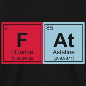 Geeky Fat Periodic Elements - Men's Premium T-Shirt