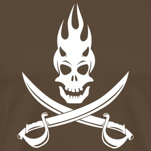 drapeau_pirate_demon Tee shirts - T-shirt Premium Homme