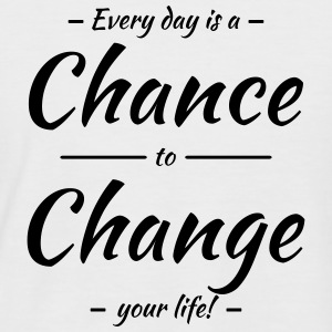 Every day is a chance to change your life T-shirts - Kortærmet herre-baseballshirt