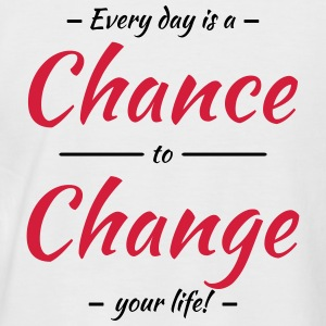 Every day is a chance to change your life T-shirts - Kortärmad basebolltröja herr