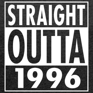 Straight Outta 1996 T-shirts - Dame T-shirt med rulleærmer
