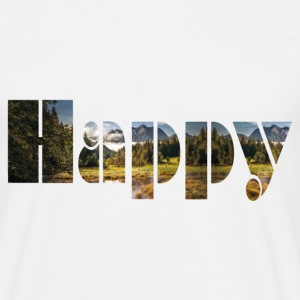 Happy Mountains - Männer T-Shirt