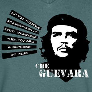 Che Guevara If you tremble with Indignation Men  - Koszulka męska Canvas z dekoltem w serek
