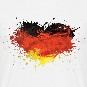 allemagne germany heart drapeau coeur Tee shirts - T-shirt Homme