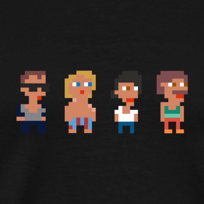 WeSpawn Pixels Svart - Man