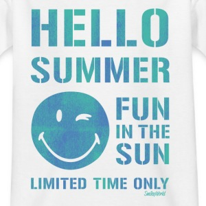 SmileyWorld 'Hallo Summer' kids t-shirt - Kinderen T-shirt
