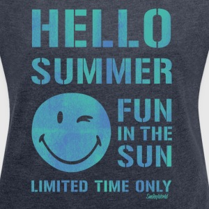 SmileyWorld 'Hallo Summer' women t-shirt - Women's T-shirt with rolled up sleeves