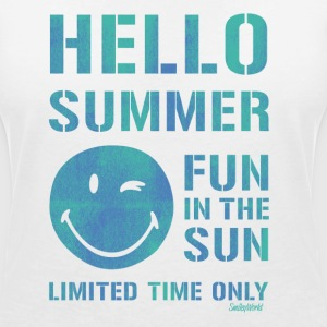 SmileyWorld 'Hallo Summer' women t-shirt - Dame-T-shirt med V-udskæring