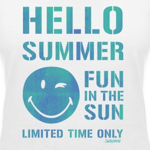 SmileyWorld 'Hallo Summer' women t-shirt - T-skjorte med V-utsnitt for kvinner