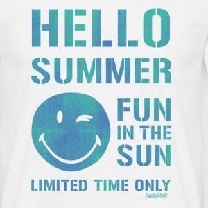 Smiley World Hello Summer Männer T-Shirt - Männer T-Shirt