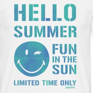 SmileyWorld 'Hallo Summer' men t-shirt - Herre-T-shirt