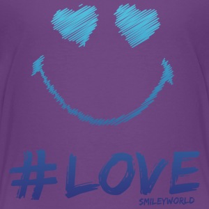 SmileyWorld '#Love' kids t-shirt - Kids' Premium T-Shirt