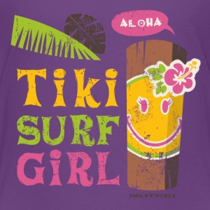 SmileyWorld 'Tiki Surf Girl' teenager t-shirt - Teenage Premium T-Shirt