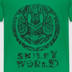 Smiley World Tiki Surf Teenager T-Shirt - Teenager Premium T-Shirt