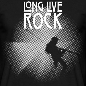 Sologuitar White + Long Live Rock - Männer T-Shirt
