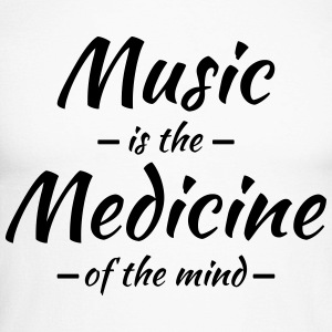 Music is the medicine of the mind Long sleeve shirts - Men's Long Sleeve Baseball T-Shirt